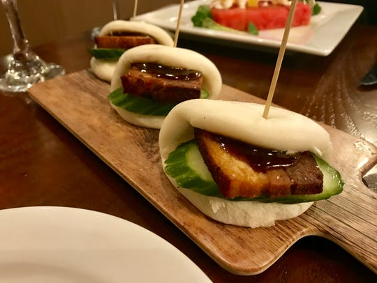 Pork belly steamed buns from Table & Tap.