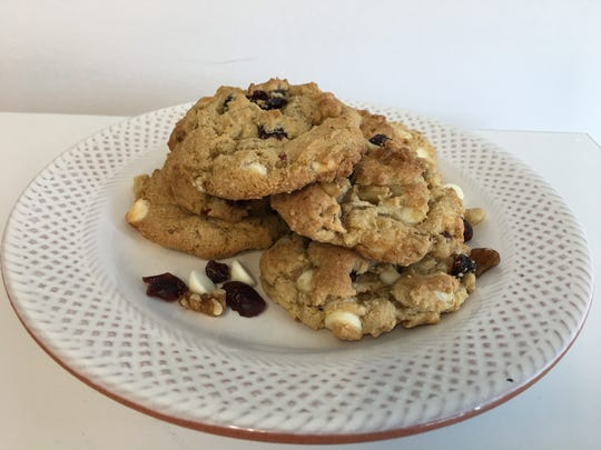 White Chocolate, Cranberry and Walnut Cookies opt for