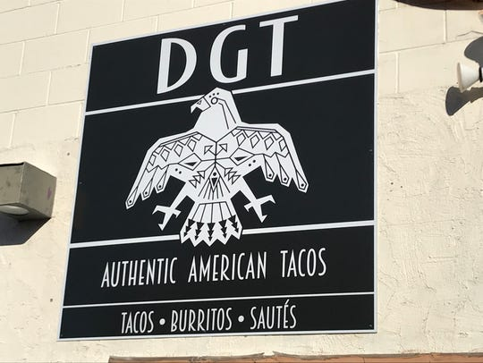A new sign at DGT. The restaurant has operated in Fort