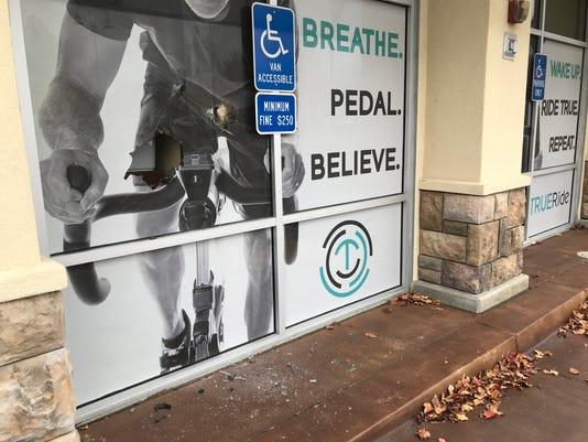 True Ride window smashed.JPG