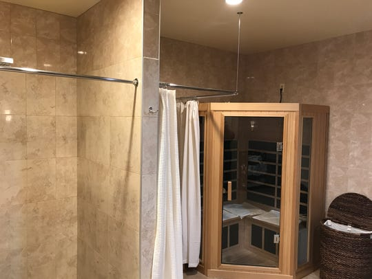 Sauna at 5 Elements Spa in Perinton