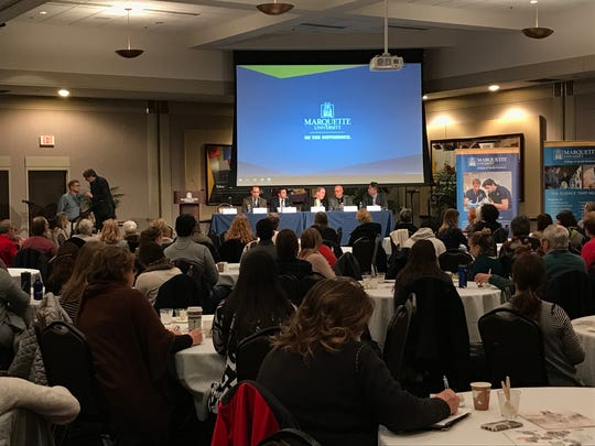 Marquette University's College of Health Sciences convened a panel about the opioid epidemic featuring Ald. Michael Murphy and researchers and clinicians from Marquette, Aurora Health Care and The Bridge Health Clinic.
