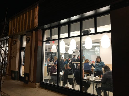 Three Carrots vegan restaurant, in the Fountain Square neighborhood of Indianapolis, opened on Dec. 1, 2017. The building, across the street from the White Castle corporate office, doesn't have a sign up yet, but it's coming in the next couple of days.