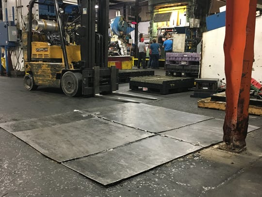 A metal patch covers a portion of the floor in Magnum