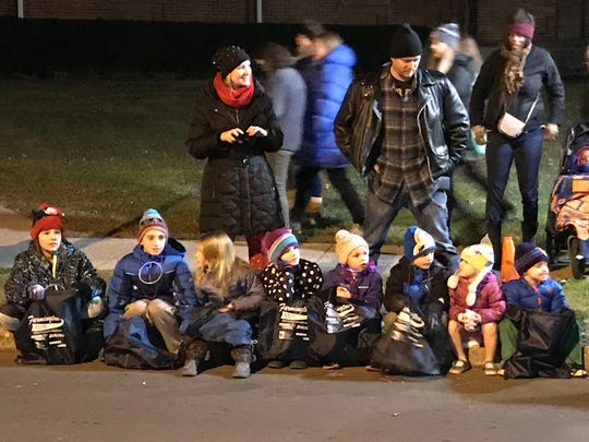 Crowds lined Grand River for the annual Light Up the Grand parade.