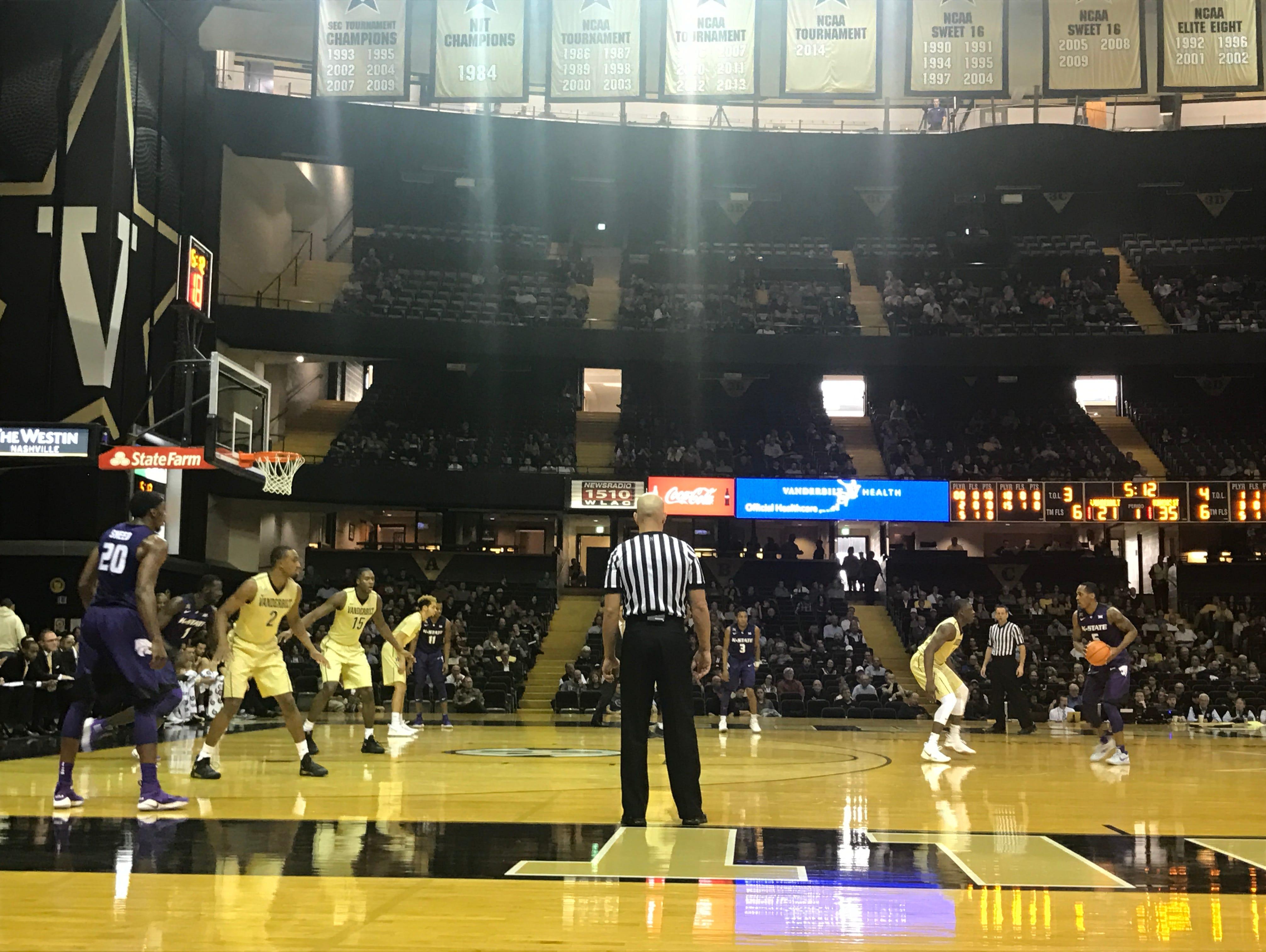 Vanderbilt basketball takes on Kansas State Sunday, December 3 2017 in Nashville, Tennessee.
