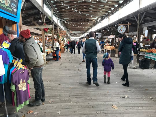 The Ithaca Farmers Market at Steamboat Landing.
