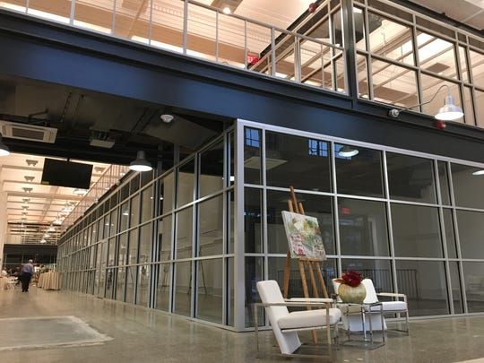 The first two floors of Kress on Dexter feature a dramatic stretch of retail and office space.