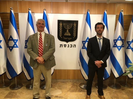 """Bob Farnsworth and David Kiern screened a portion of their """"I Am Israel"""" documentary for members of Israel's parliament in November."""
