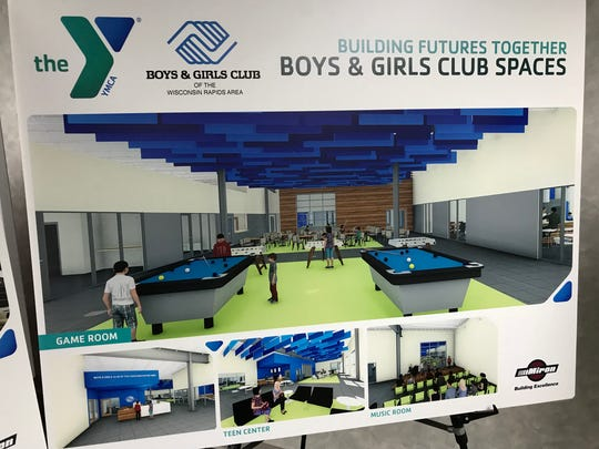 Renderings of the new Boys & Girls Club of the Wisconsin