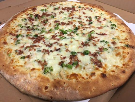 One of Pizza Guy's specialties is the Chicken Ranchero