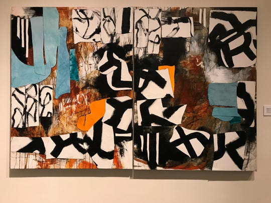 """""""Winds of Sefrou"""" (2017), diptych, collage with canvas,"""