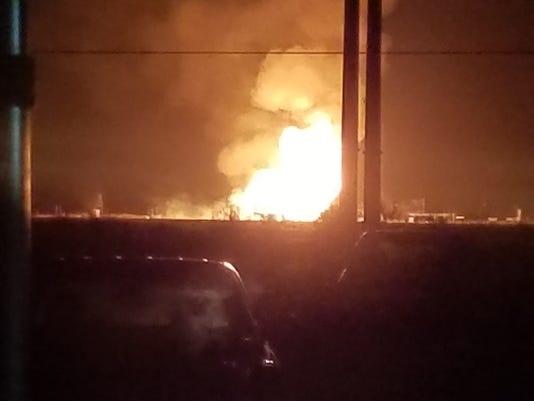 Eddy County Pipeline explosion
