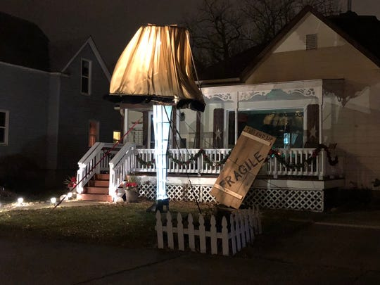 Tom Gross, 60, created a leg lamp from the Christmas