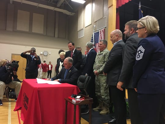Gov. John Bel Edwards previously signed an executive order at Parkway High School to create a new Cybersecurity Commission.