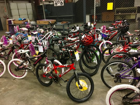 Bicycles stored for Last Minute Toy Store to be held this year in Davidson County Sheriff's Office warehouse
