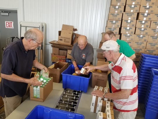 The Commodity Food Program, gives boxes of nutritional