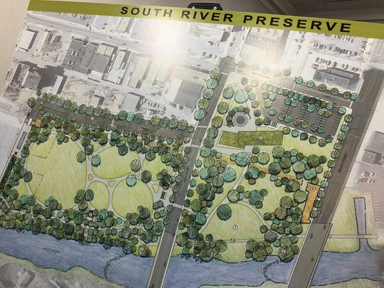 The plan for the South River Preserve, thanks to the DuPont settlement.
