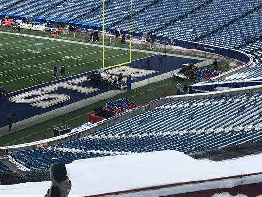 A pre-game look at New Era Field Sunday.