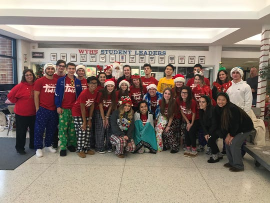 Washington Township High School upper classmen stayed up all night in the school's lobby to collect toys for township kids. The Township Toys project and the 24 at the Core marathon drive won the Courier-Post's #FridayLIVEdrives competition for a live broadcast at their school.
