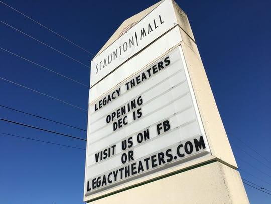 Legacy Theaters is set to open Friday, Dec. 15 at the