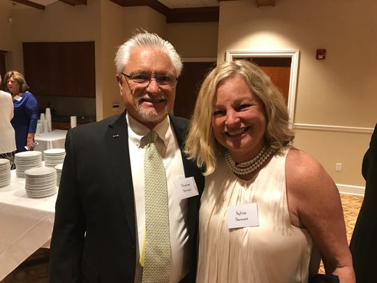 Duncan and Sylvia Stewart, RN, at the VIM Clinic's 2017 Volunteer Appreciation Party at the Stuart Yacht and Country Club.