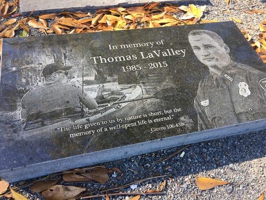 A memorial honors Thomas LaValley at Betty Virginia