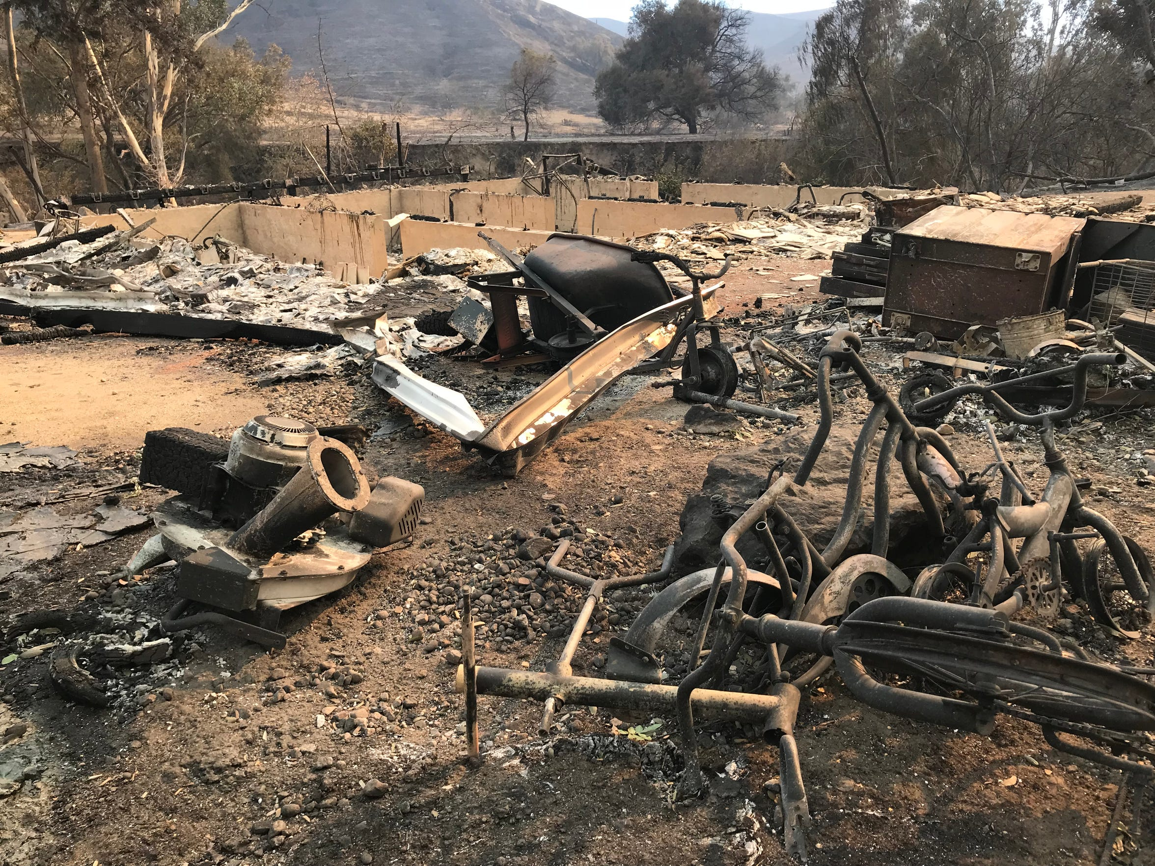 Tracy Hanna's family home burned down when the Thomas Fire burned through Wheeler Canyon.