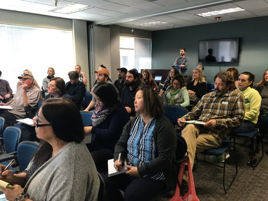 About 25 people attended a California Water Board Cannabis Cultivation Regulatory Program workshop in Redding on Wednesday.