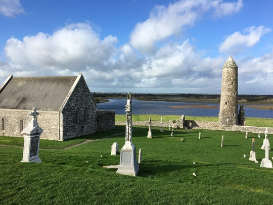 Irish Rover owners Michael and Siobhan Reidy took a group of Louisville residents to County Clare and Dublin in Ireland last year. This is the Monastic settlement of Clonmacnoise on the River Shannon.