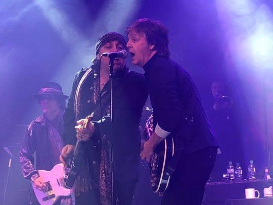 Marc Riber, Stevie Van Zandt and Paul McCartney on