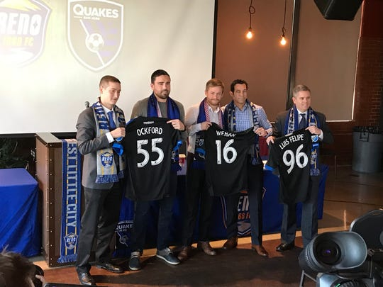 Three players from Reno 1868 FC signed with San Jose in the MLS, Jimmy Ockford, Chris Wehan and Luis Felipe.