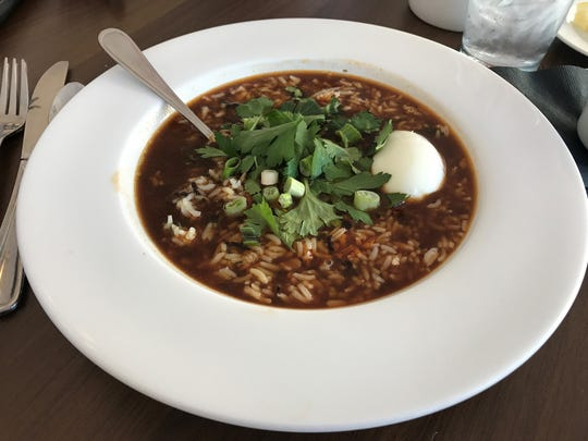The beef bone broth soup at Karat Bar and Bistro was