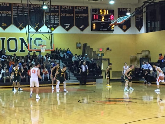 The No. 5 ranked Middletown North boys basketball team hosts Red Bank Catholic on opening night on Dec. 15, 2017
