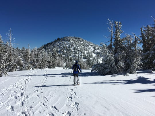 Snowshoeing is a great workout during winter.