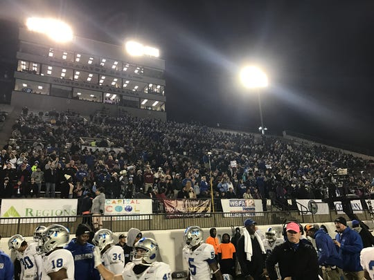 MTSU fans packed their section at the Camellia Bowl in Montgomery, Ala., on Dec. 17, 2017.