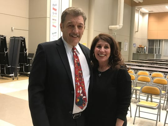 Superintendent of Schools Nicholas Perrapato and newly