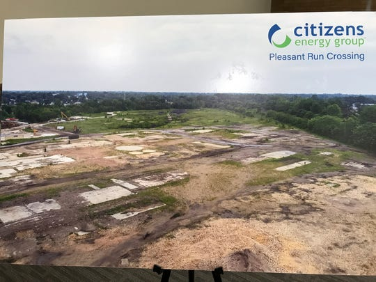 The City of Indianapolis and Citizens Energy Group plan to redevelop the Pleasant Run Crossing site to become a new Justice Center.