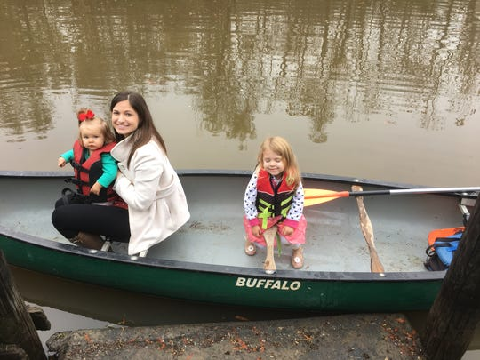 The Guidrys went for a canoe ride at Lake Fausse Pointe State Park.