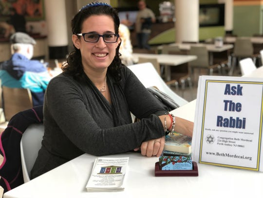 Rabbi Sara Metz will be at Menlo Park Mall at noon on Wednesday, Feb. 14, and Wednesday, Feb. 28, sitting near Panera. She will answer any question you might have and also discuss the topics of the day.