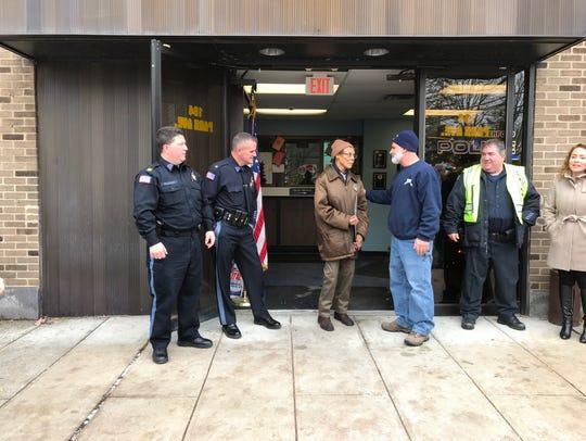 Mayor Joe DeSalvo, right, and Police Chief John Russo,