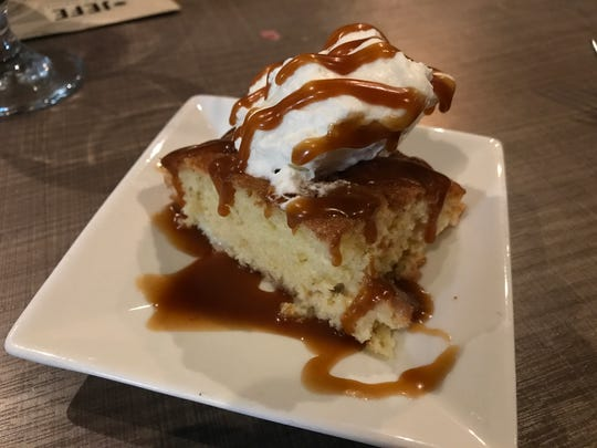 Tres leches cake El Jefe Tacos Y Tequila in Stevens Point.