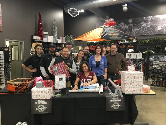 The team from Hudson Valley Harley Davidson in Nanuet