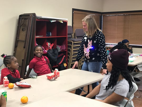 Students from the Laurelwood community interact with