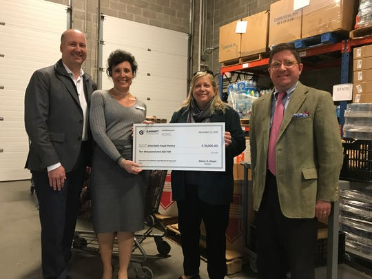 The Gannett Foundation presents a $10,000 donation