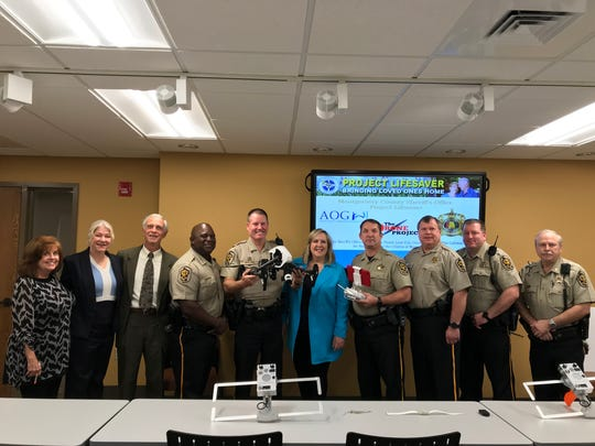 The Montgomery County Sheriff's Office received a search and rescue drone Thursday, a gift from the Alzheimer's and Autism Outreach Group.