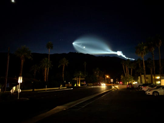A shocking flash of light was seen above the San Jacinto