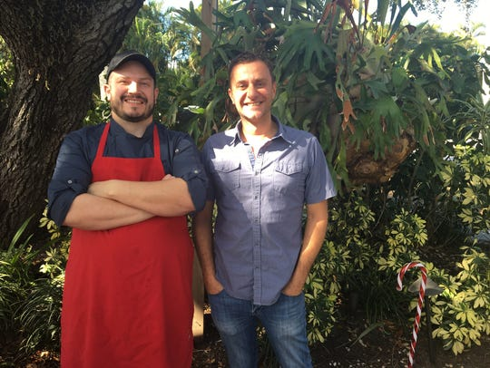 Luke DiSomma, right, owns McGregor Cafe in Fort Myers.