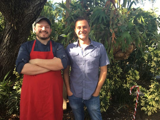 Luke DiSomma, right, owns McGregor Cafe in Fort Myers. Chef Coleman Jernigan, left, joined McGregor Cafe as head chef in September.