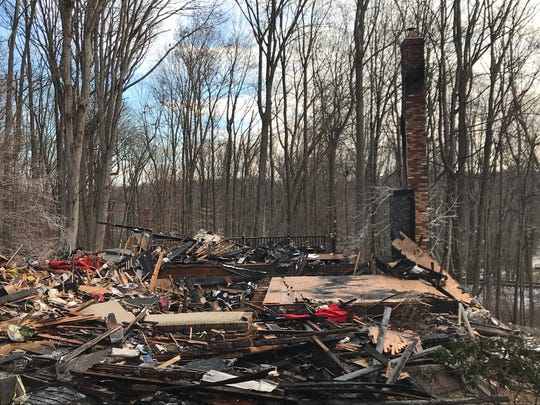 This home at 29 Southland Drive in the Powder Mill section of Parsippany was demolished after sustaining heavy damage in a fire on Christmas night, Dec. 25, 2018. The couple who live in the home were out at the time of the fire, which was reported at 6:50 p.m.